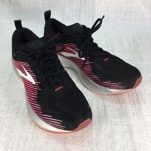 Brooks Ghost 10 DNA Pink Black Running Sneakers